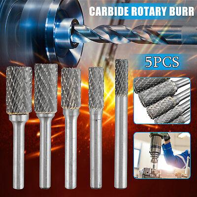 5x Rotary Burr Set Head Tungsten Carbide Burrs 1//4/'/' Shank Die Grinder Bit Tool