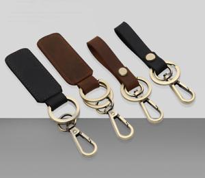Creative Leather Belt Loop Car Key Ring Keychain Keyfob Key Holder Ring