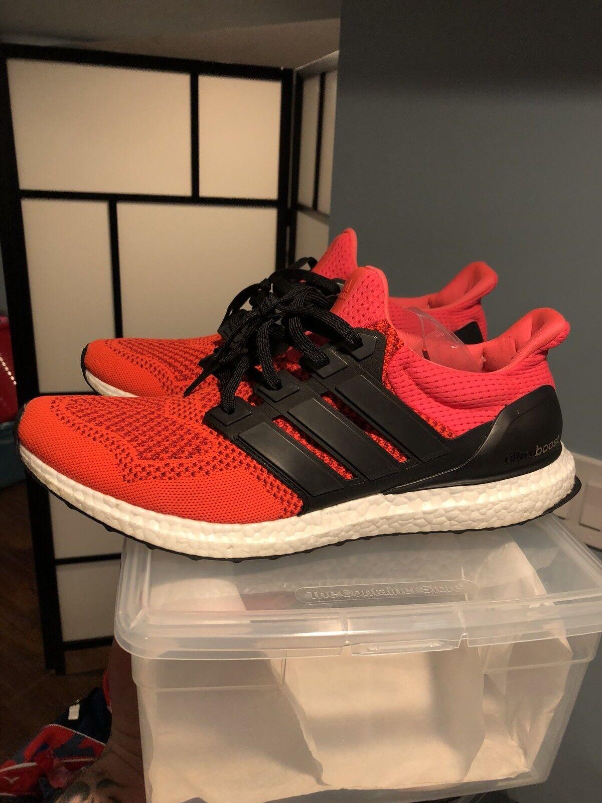 ADIDAS ULTRABOOST 1.0 SOLAR RED B34050 sz 13  yeezy nmd ultra boost orange VNDS