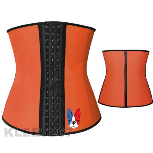 Latex Waist Trainer Corset Cincher Training Underbust  For Men Women UK Stock