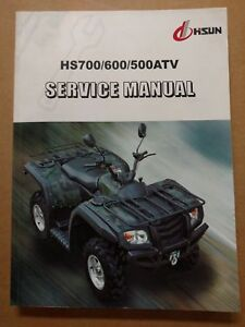 Details about HS 500 700 ATV Service Manual HISUN + WIRING DIAGRAM Printed  Book Copy