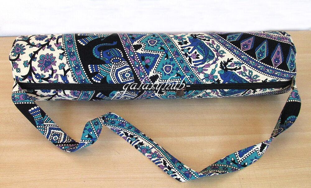 5 Pcs Wholesale Lot Of Deer Mandala Yoga Mat Bag With Shoulder Strap Carrier Bag