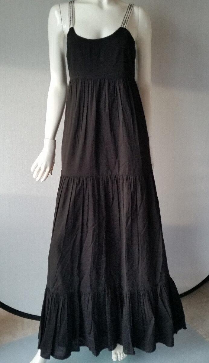 HALLHUBER Kleid cotton Maxi Baumwolle schwarz Gr.34--UK6NEU