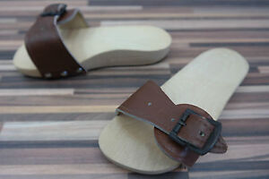 GDR-Foot-Exercises-Mules-Roman-Sandals-Wooden-Shoes-with-Leather-Size-20