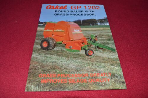 Orkel GP 1202 Round Baler Dealer/'s Brochure LCOH