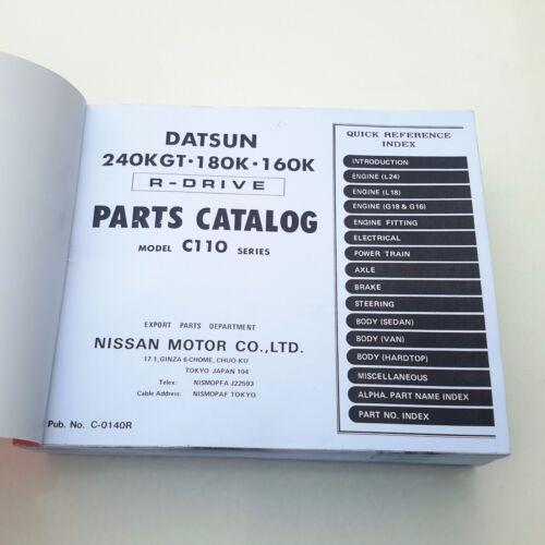 DATSUN Skyline C110 180K 160K 240K GT Parts Catalog Final Issue 1978 NEW Copy