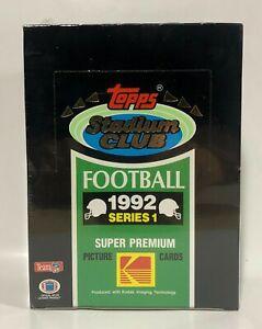 1992-Stadium-Club-series-1-Football-card-box-Sealed-contains-36pks
