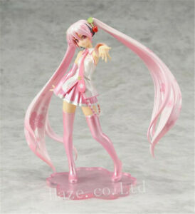 Anime-Vocaloid-Sakura-Pink-Hatsune-Miku-PVC-Figure-Toy-6-039-039-in-Box