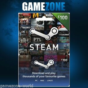 100 Steam Gift Card - 100 GBP Pounds UK Steam Wallet Digital ...