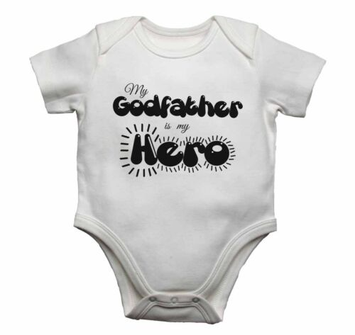Baby Vests Bodysuits Baby Grows Graphic Print My Godfather is my Hero