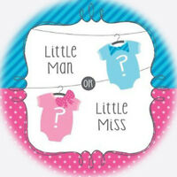 Gender Reveal Baby Shower Edible Frosting 8round Cake Topper