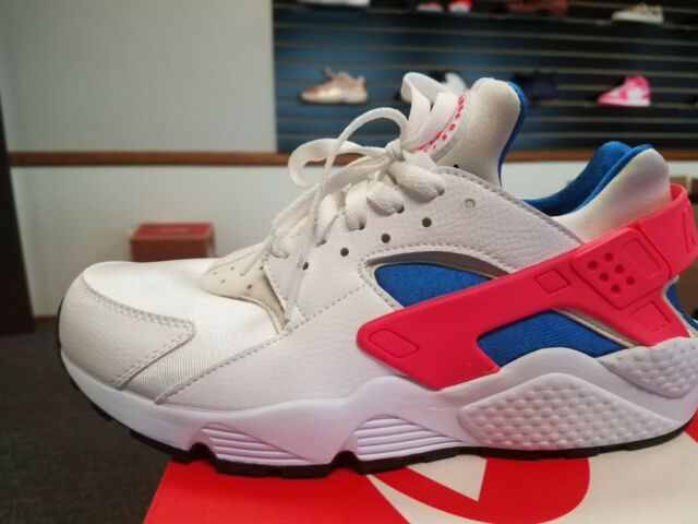 separation shoes 52418 f73f0 Nike Air Huarache Mens 318429-112 Ultramarine Solar Red Running Shoes Size  12