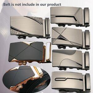 Luxury-Leather-Men-039-s-Automatic-Buckles-Fashion-NO-Waist-Strap-Belt-Waistband-J