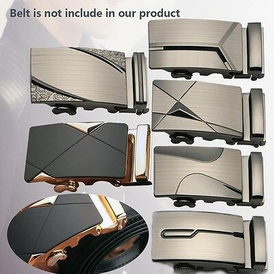 Luxury Leather Men/'s Automatic Buckle Fashion NO Waist Strap Belt Waistband