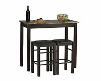 Tavern Height Table Chairs Pub Bar Stools Seats Dining Kitchen Counter 3 Piece