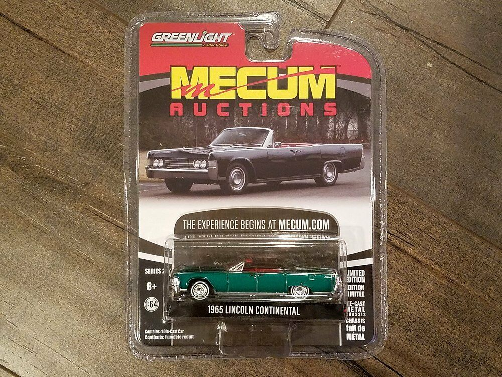 Greenlight 1 64 Mecum Auctions Series 1965 1965 1965 Lincoln Continental 37140-A Chase Car a8a03d