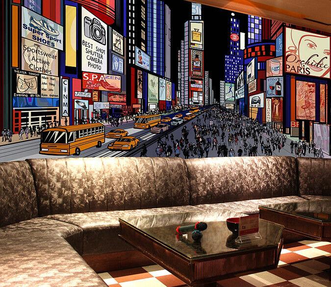 3D Stadt Bürgersteig 94 Tapete Wandgemälde Tapete Tapeten Bild Familie DE | Ausreichende Versorgung  | Mangelware  | Verkaufspreis