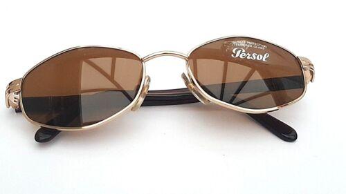 P8 Occhiali DA SOLE PERSOL 2062-S 515//33 GOLD BR 100/% protezione UV 100/% Autentico
