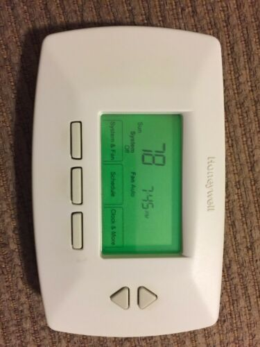 wh7114 honeywell rth7500d conventional 7 day programmable thermostat rh ebay com Honeywell Thermostat RTH2300B Manual Honeywell Programmable Thermostat Owner Manual TH3110D