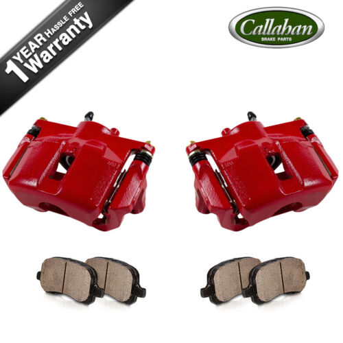 Front Red Powder Coated Brake Calipers /& Ceramic Pads For Nissan Maxima Sentra
