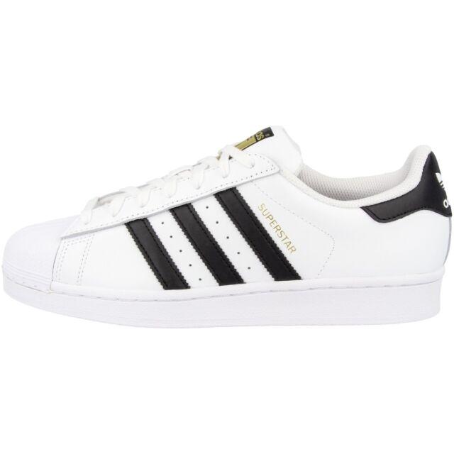 Adidas Superstar Chaussures rétro classique Baskets Blanc Noir C77124