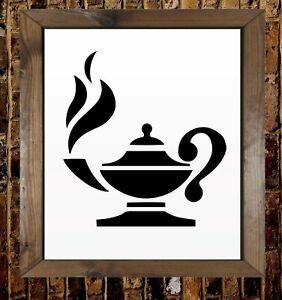 Coffee Tea Cups Home Kitchen Mylar Painting Wall Art Stencil A1 Size Stencil - Xlarge