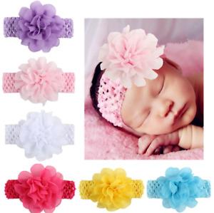 5db8d96209e 5pcs Elastic Newborn Baby Headdress Kids Girls Chiffon Hair Band Flower  Headband