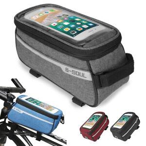 Velo-Support-Telephone-Mobile-etui-Impermeable-Frame-Mount-Holder-Cross-Bar-tube-superieur