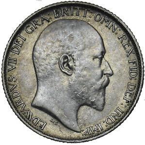 1910-Sixpence-Edward-VII-British-silver-coin-Nice