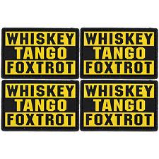 4x PVC Morale Patch Whiskey Tango Foxtrot WTF 3D Badge Hook #23