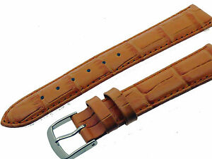 # L032# Uhrenarmband Armband Leder Kroko Optik Bracelet Leather 18 Mm Buy One Give One