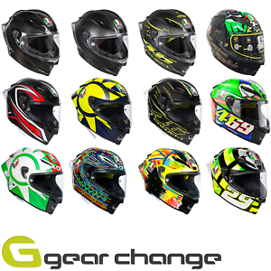 Agv Pista Gp R Carbon Fibre Motorcycle Motorbike Race Helmets Ebay