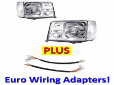 DEPO 1986-93 Mercedes Benz W124 Euro Headlights Set + Corner Lights + Wiring Set