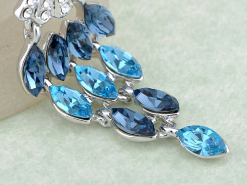 Blue Gradient Cascading Mermaid/'s Seashell New Crystal Element Necklace