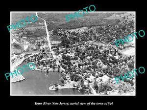 OLD-LARGE-HISTORIC-PHOTO-OF-TOMS-RIVER-NEW-JERSEY-AERIAL-VIEW-OF-THE-CITY-1940-3