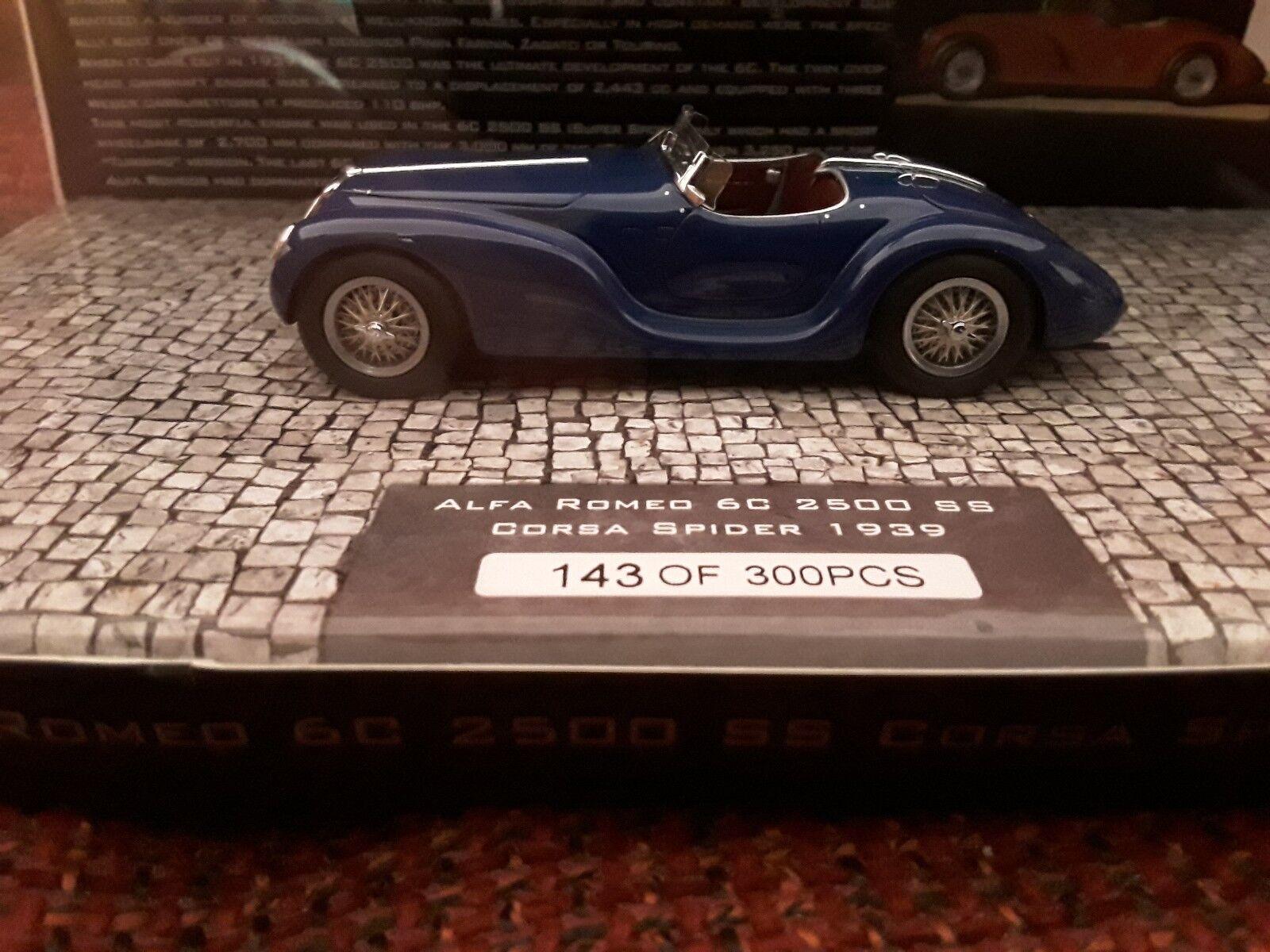 Alfa Romeo 6C 2500 SS Corsa Spider  blau  1939  1 43  Minichamps 437120232  | Räumungsverkauf