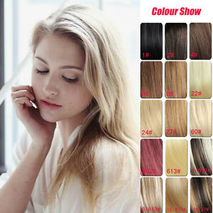 Premium-16-034-100-Remy-Human-Hair-Extensions-Clips-in-7Pcs-Full-Head-16-Colors