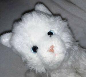 PERSIAN-CAT-Plush-White-Blue-Eyes-Kitty-Kitten-Stuffed-Animal-White-Toys-R-Us