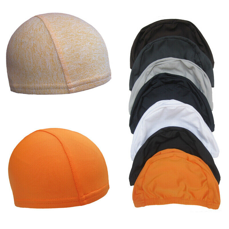 Orange unisex summer beanie for running and cycling
