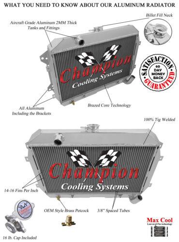 1970 1971 1972 1973 DATSUN 240Z 2 Row All Aluminum Champion Radiator DR