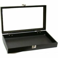 Set Of 4 Glass Top Display Cases Jewelry Organizer Multi Purpose Rings Bracelets