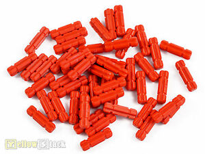 50x-LEGO-Technic-Achse-32062-rot-NEU-mit-Nut-2-Noppen-lang-red-axle-2-notched