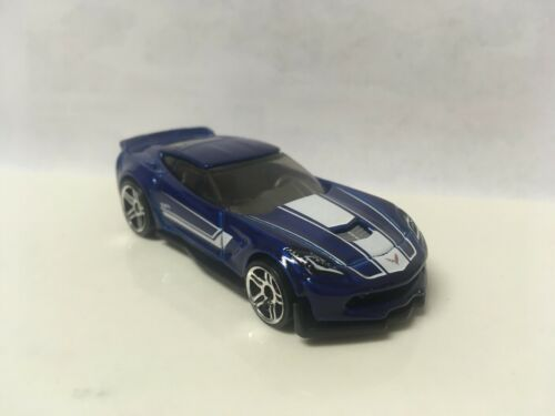 2018 Hot Wheels Loose Blue Chevy Corvette C7 Z06