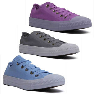 Details about Converse Chuck Taylor All Star Ox Women Canvas Trainers In Purple Size UK 3 8
