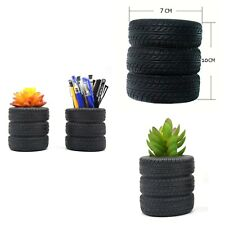 Pen Holder Tire Shape Pencil Accessories Organizer Stand Home Office Desk 2 Pack