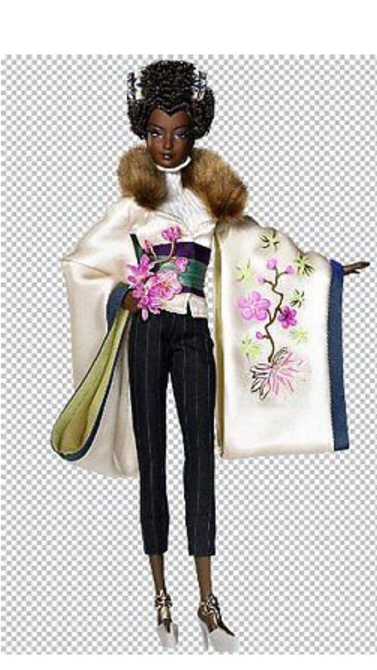2009 marca nuevo Byron Lars Ayako Jones Muñeca Barbie Etiqueta Dorada aún en el tejido