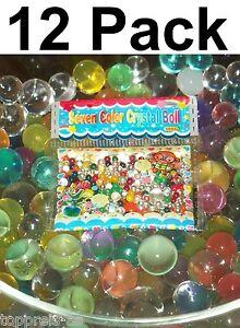 12 x Seven Color Crystal Boll Organic Soil Ball Plant House Decor
