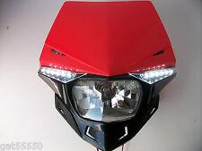 Ufo Road Legal Red Headlight Enduro Streetfighter Crf250 Xr Crf Ec Te Xlr Crf450
