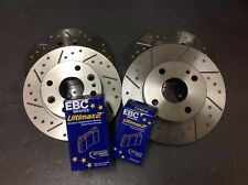 Mazda MX5 Mk1 1.6 Grooved Performance Brake Discs & EBC UltiMAX Pads, Fnt + Rear