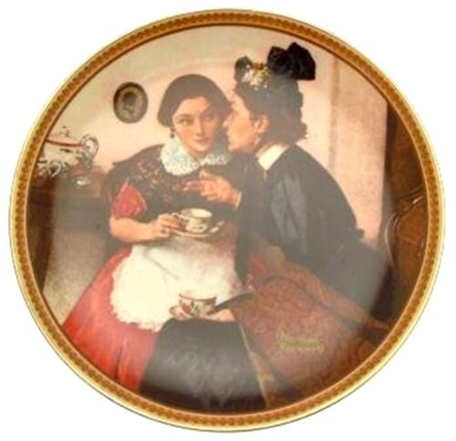 Knowles Gossiping in the Alcove Norman Rockwell plate Rediscovered Women Plate